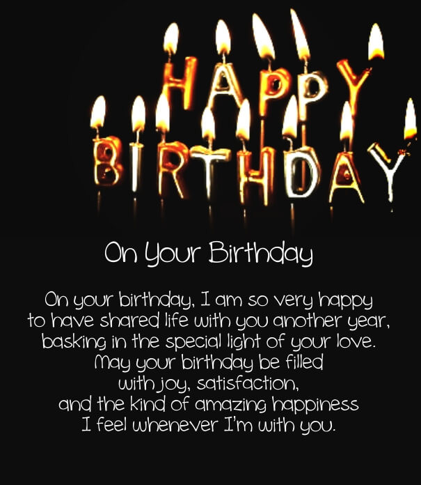 Short Birthday Quote  12 Happy Birthday Love Poems for Her & Him with