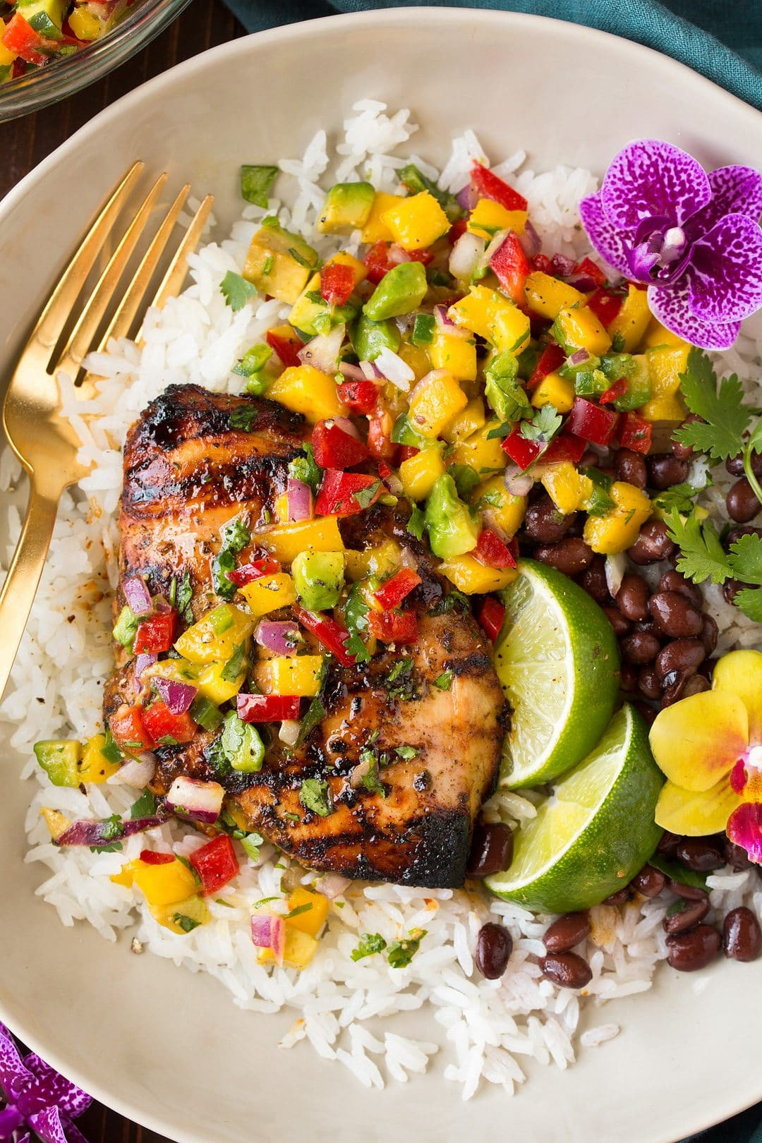 Side Dishes For Jerk Chicken  Jerk Chicken with Mango Avocado Salsa Cooking Classy