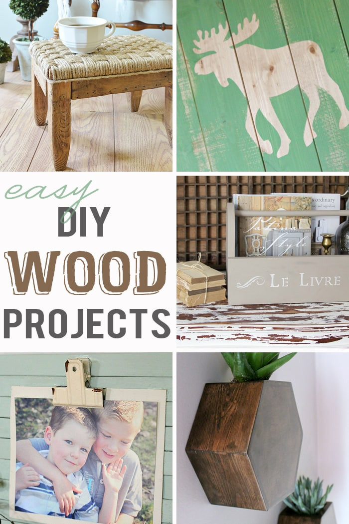 Simple DIY Wood Projects  Easy DIY Wood Projects M&MJ Link Party 107