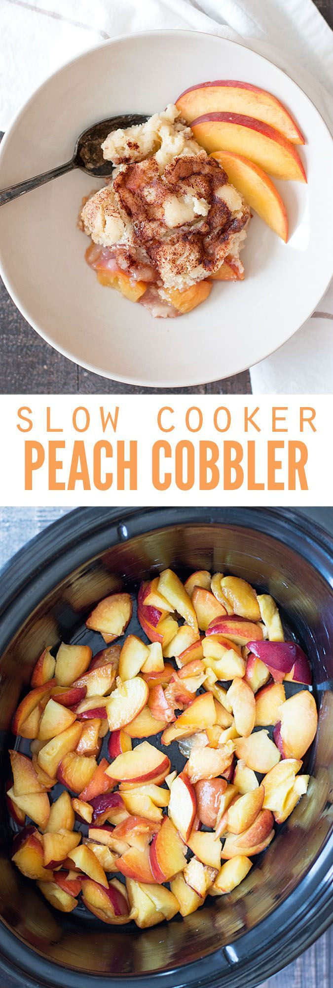 Slow Cooker Cake Recipes With Yellow Cake Mix  Slow Cooker Peach Cobbler Recipe