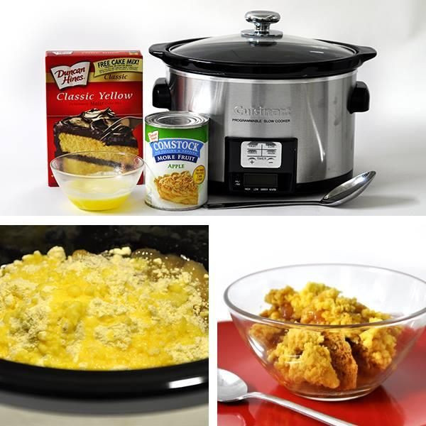 Slow Cooker Cake Recipes With Yellow Cake Mix  Crockpot Cobbler can use white yellow or french vanilla
