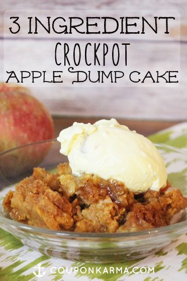 Slow Cooker Cake Recipes With Yellow Cake Mix  ly 3 ingre nts Yellow Cake Mix Apple Pie Filling & a