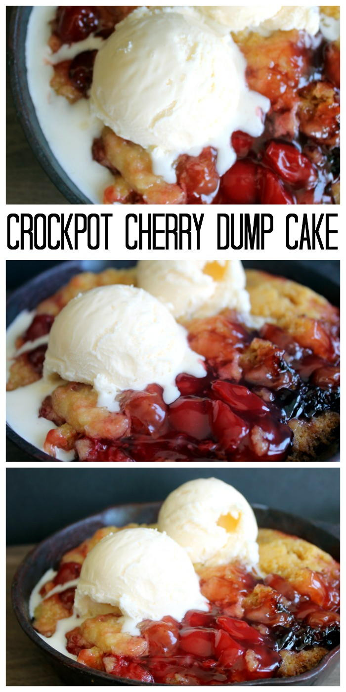 Slow Cooker Cake Recipes With Yellow Cake Mix  Crockpot Cherry Dump Cake