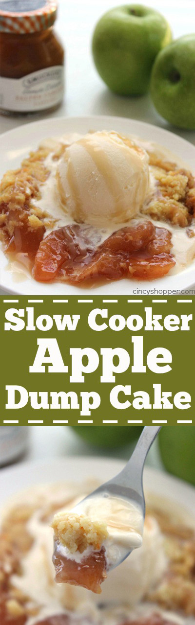Slow Cooker Cake Recipes With Yellow Cake Mix  Slow Cooker Caramel Apple Dump Cake CincyShopper