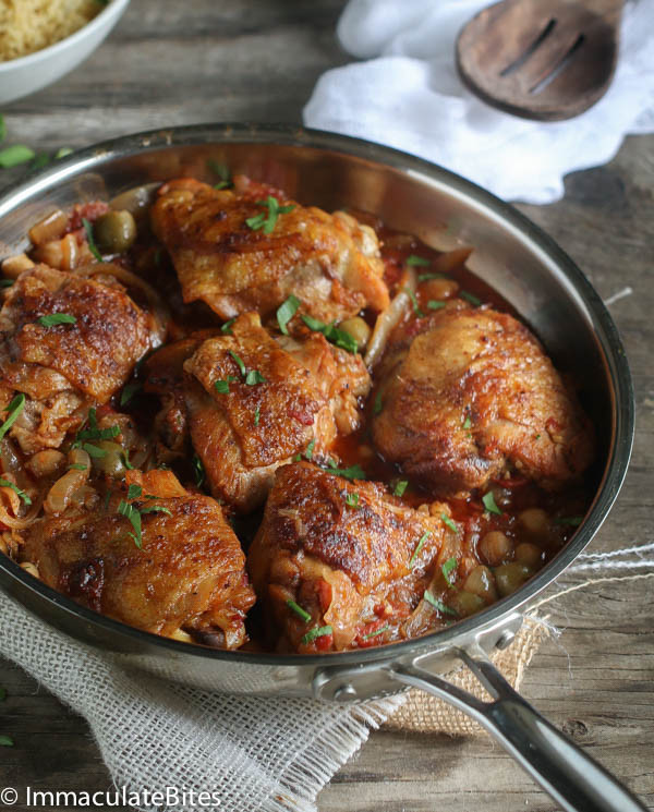 Slow Cooker Chicken Thighs  Moroccan slow cooker chicken thighs Immaculate Bites