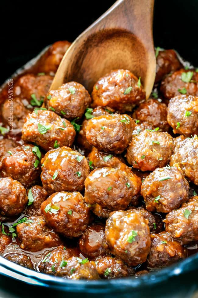Slow Cooker Meatball Appetizer  Slow Cooker Honey Buffalo Meatballs VIDEO How to