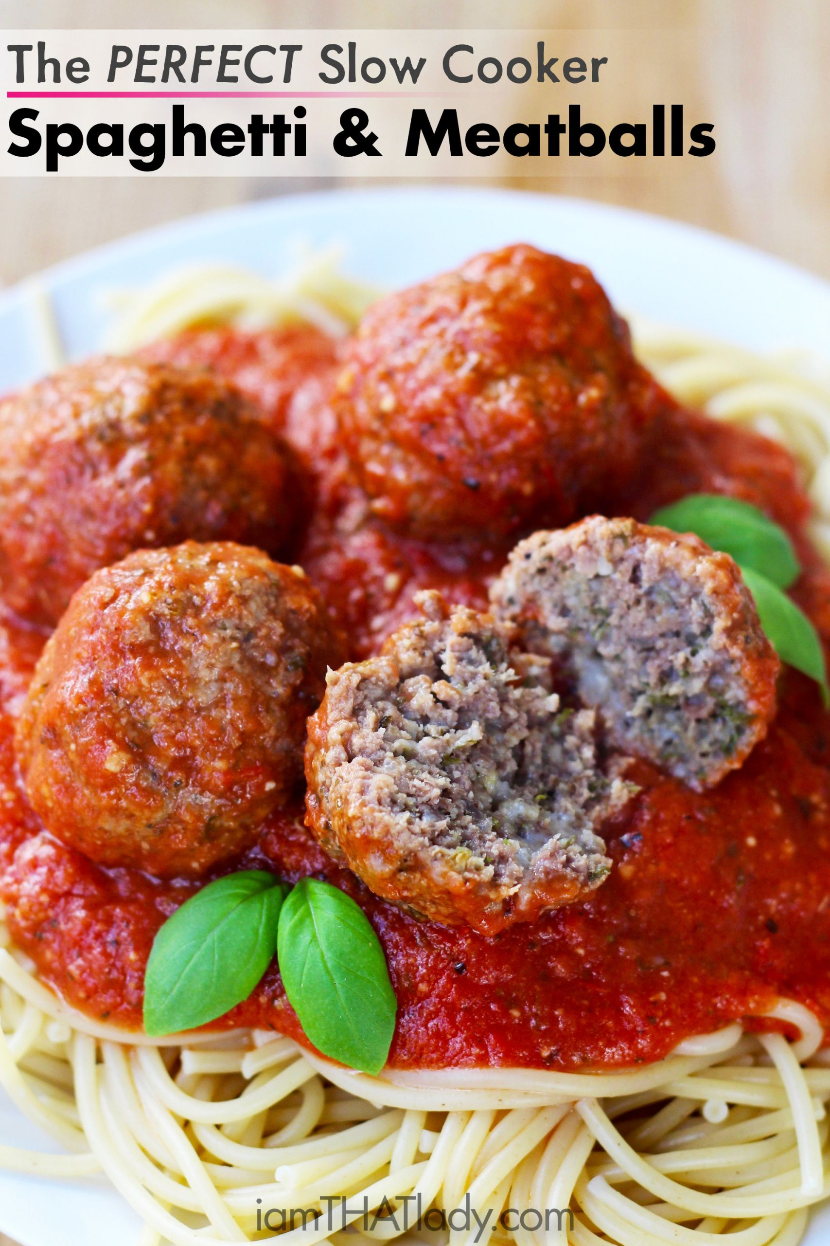 Slow Cooker Spaghetti And Meatballs  Slow Cooker Meatballs and Spaghetti Sauce Easy Delicious