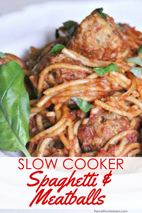 Slow Cooker Spaghetti And Meatballs  Easy Slow Cooker Spaghetti and Meatballs Recipe