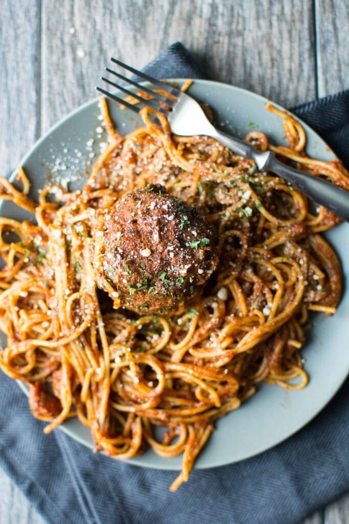 Slow Cooker Spaghetti And Meatballs  Slow Cooker e Pot Spaghetti & Meatballs Slow Cooker