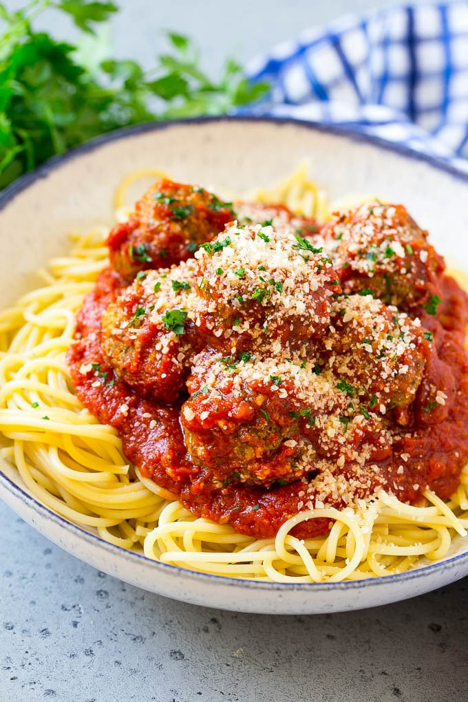 Slow Cooker Spaghetti And Meatballs  Slow Cooker Meatballs Italian Style Dinner at the Zoo