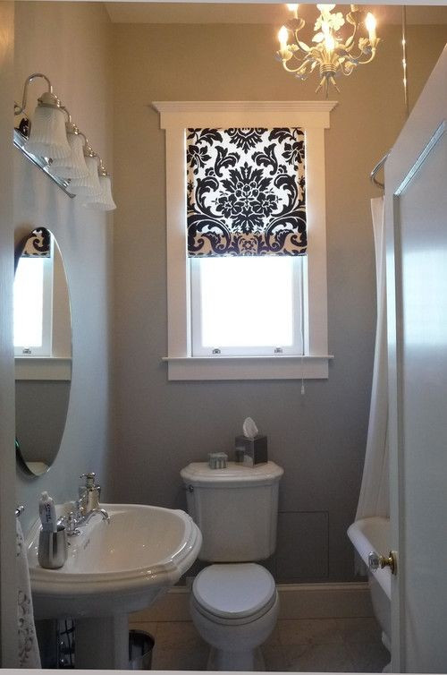 Small Bathroom Window  23 Bathrooms with Roman Shades MessageNote