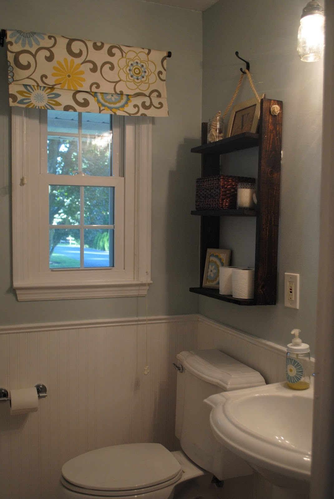 Small Bathroom Window  Two It Yourself REVEAL $100 Small Bathroom Makeover