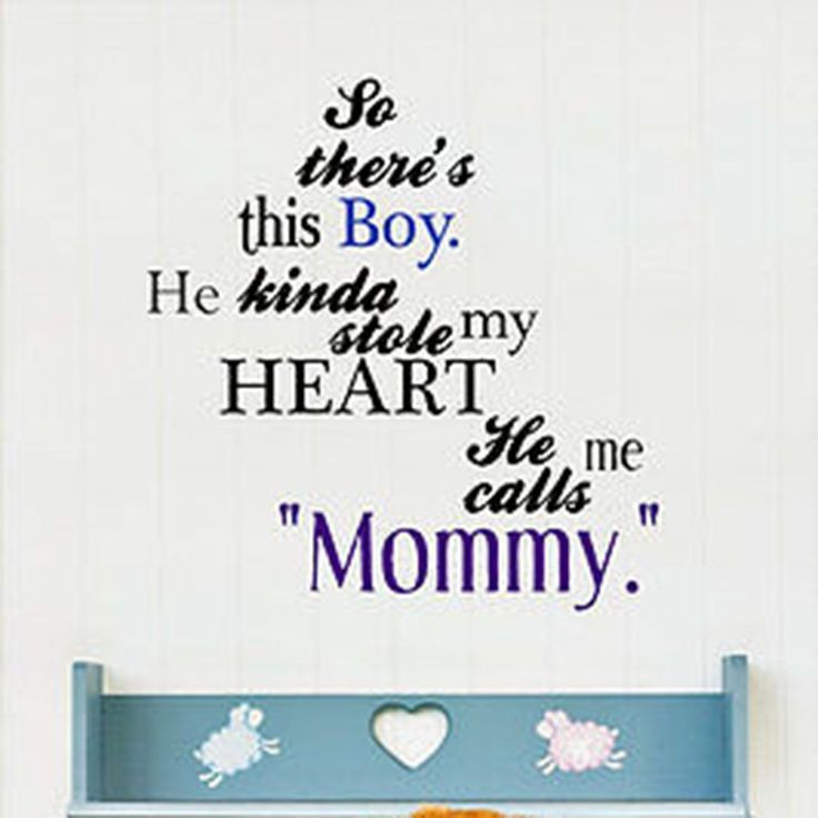 Son Quotes From Mothers  So There s This Boy Mother and Son Quote Vinyl Wall Decal