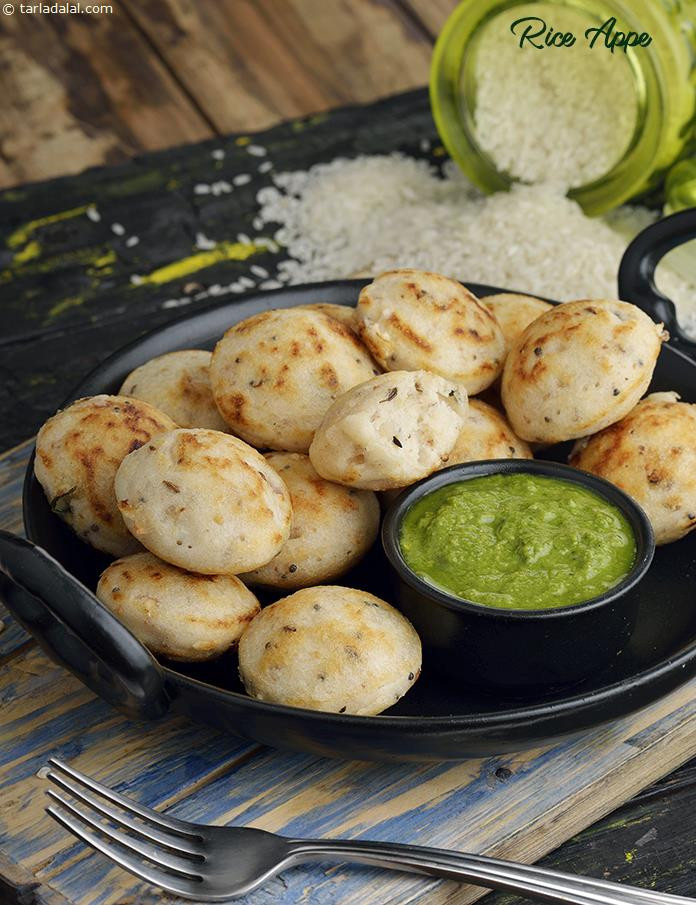 South Indian Snacks Recipes  Rice Appe How To Make Rice Appe