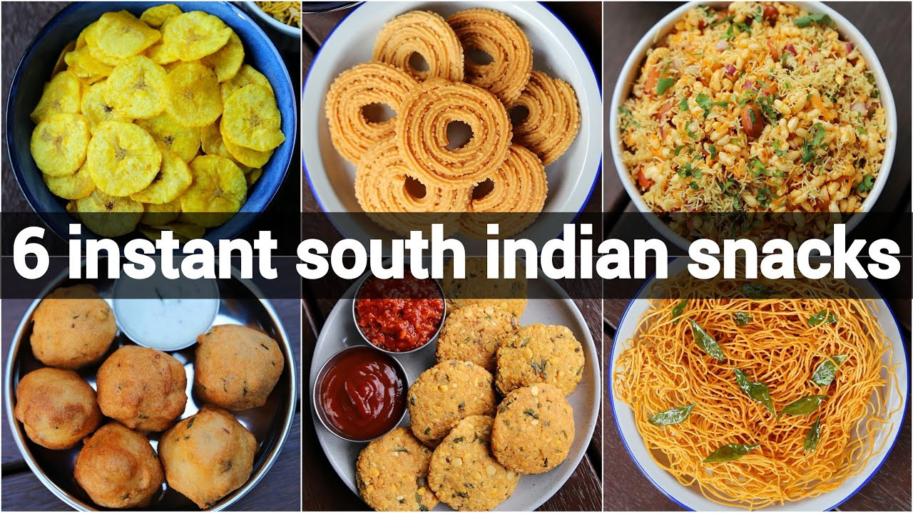 South Indian Snacks Recipes  6 instant south indian snacks recipes