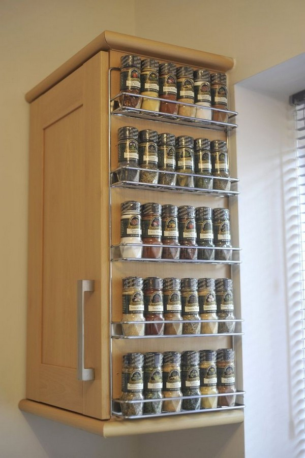 Spice Racks DIY  Coolest Spice Rack Ideas For Your Kitchen Decoration The