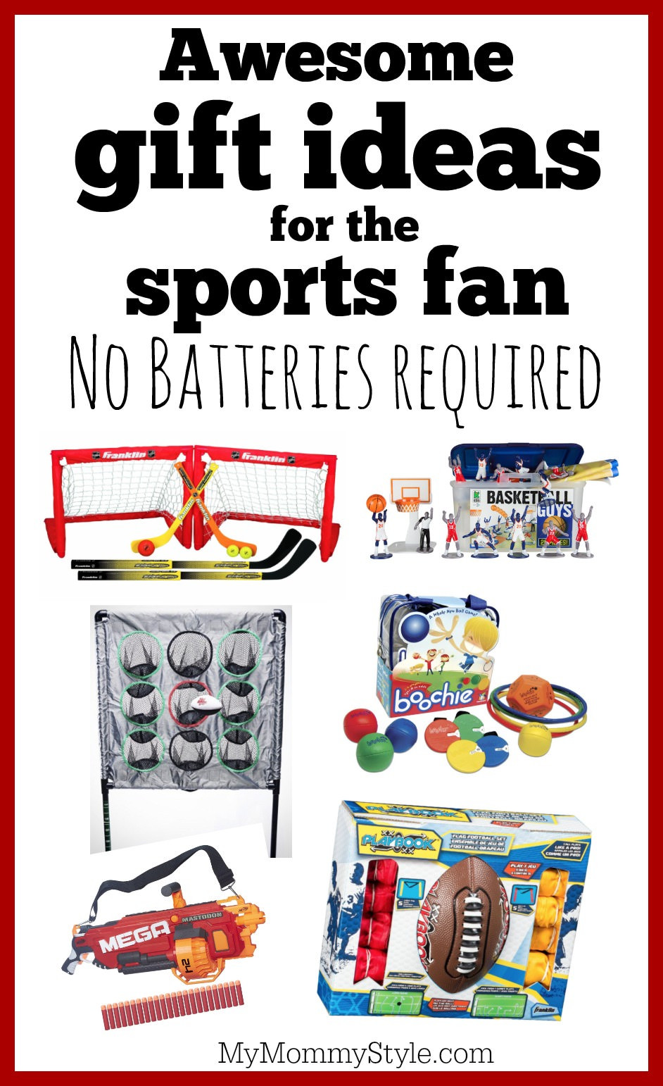 Sports Gift Ideas For Boys  50 battery free t ideas for boys ages 8 11 My Mommy Style