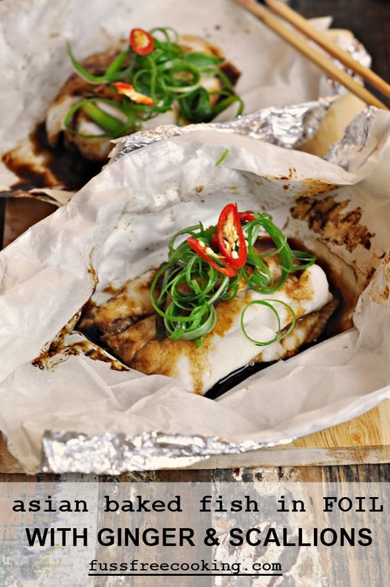 Spring Fish Recipes  Fish Parcels with Ginger & Spring ions Recipe