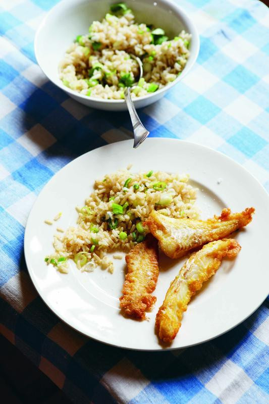 Spring Fish Recipes  Eggy fish fingers with spring onion rice