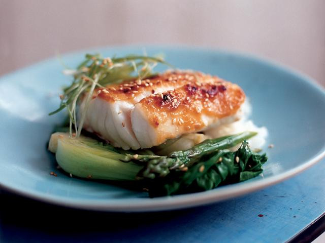 Spring Fish Recipes  Miso Fish With Spring ions & Sesame Seeds Women s Health