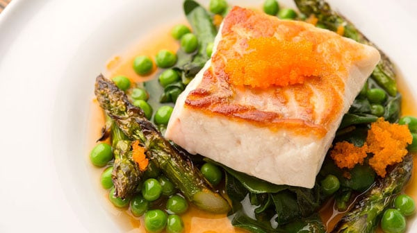 Spring Fish Recipes  Seared Fish with Spring Ve ables