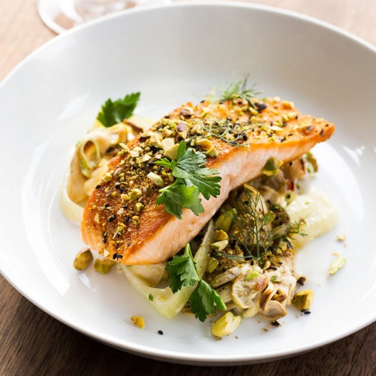Spring Fish Recipes  Recipe Dukkah Spiced Salmon with Spring Ve able