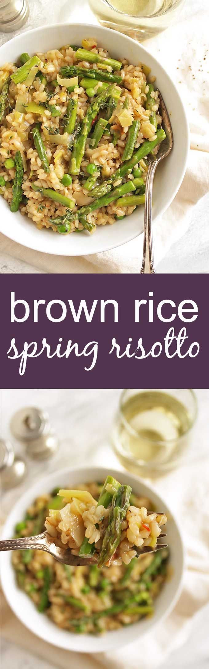 Spring Risotto Recipe  Brown Rice Spring Risotto Recipe