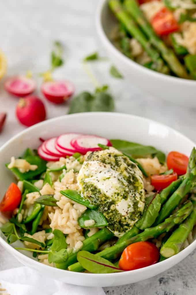 Spring Risotto Recipe  Spring Ve able Risotto with Creamy Pesto Nicky s