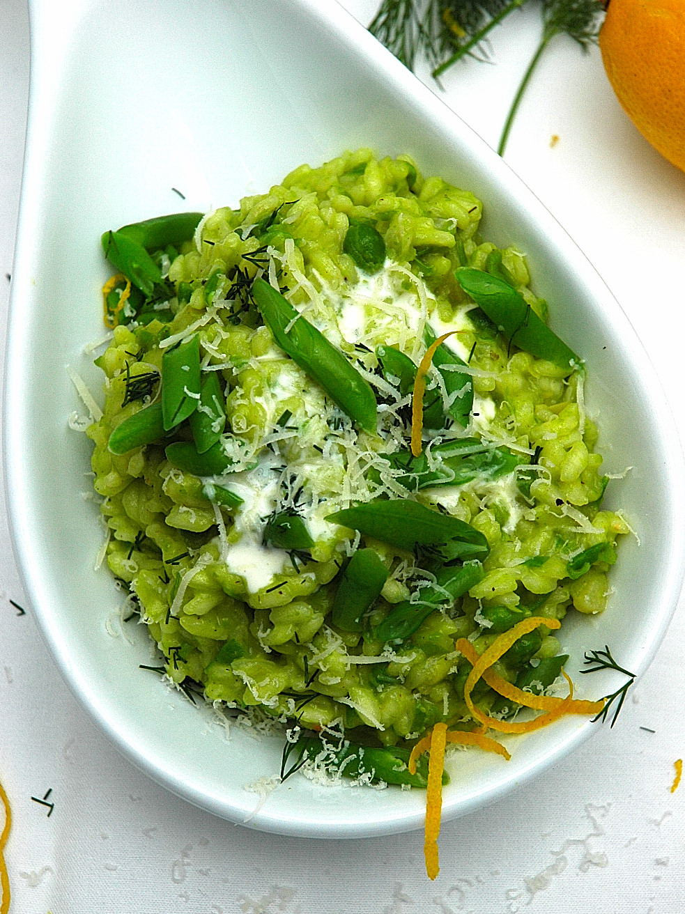 Spring Risotto Recipe  Risotto recipes Spring Risotto with peas and goats cheese
