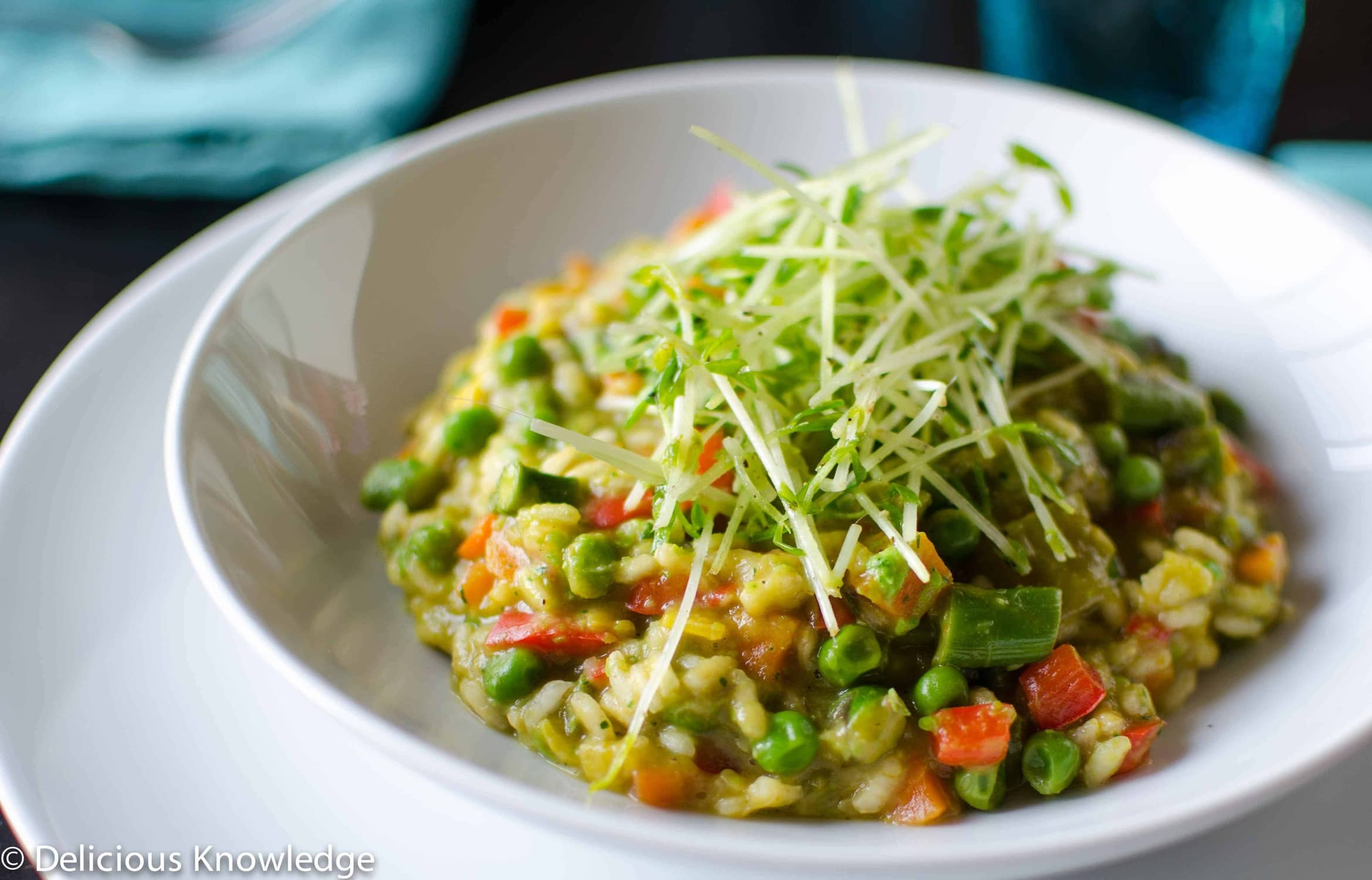 Spring Risotto Recipe  Spring Risotto with Pea Coulis Delish Knowledge