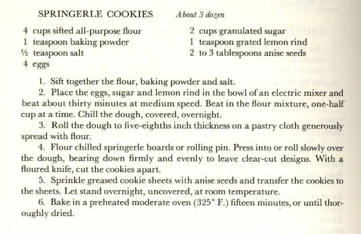 Springerle Cookies Recipe  Springerle Cookies Recipe The Henry Ford