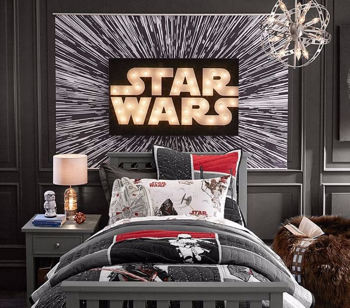 Star Wars Bedroom Decor  Star Wars Themed Kids Bedroom