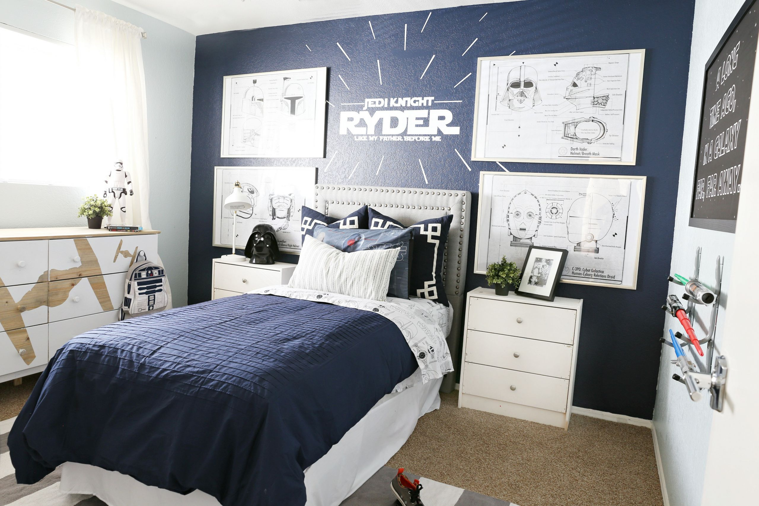 Star Wars Bedroom Decor  Star Wars Kids Bedroom Classy Clutter