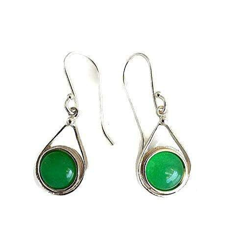 Sterling Silver Earrings Amazon  Amazon Sterling Silver Jade Earrings Green Earrings