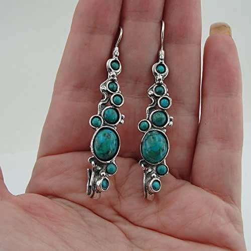 Sterling Silver Earrings Amazon  Amazon Great Long 925 Sterling Silver Turquoise
