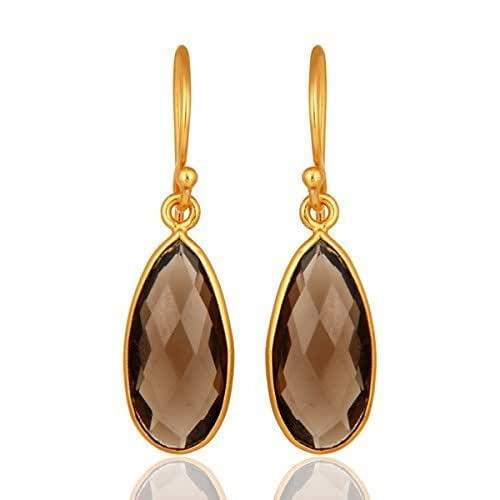 Sterling Silver Earrings Amazon  Amazon Sale Smoky Quartz Sterling Silver Drop