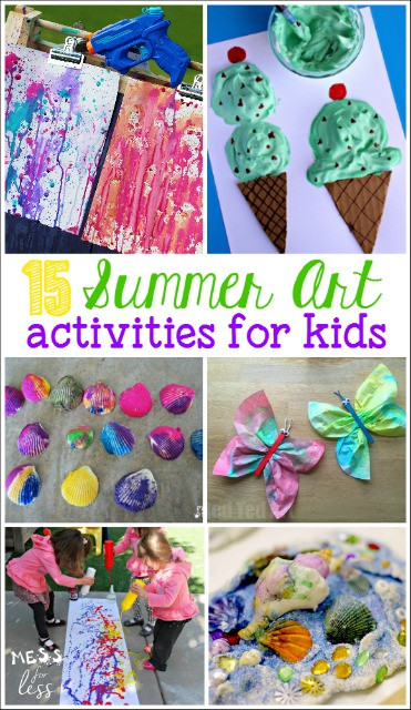 Summer Art Project For Kids  Making Tie Dye Towels Mess for Less