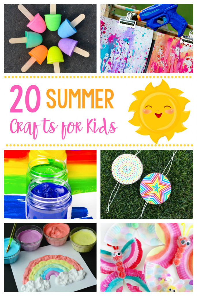 Summer Art Project For Kids  20 Simple & Fun Summer Crafts for Kids