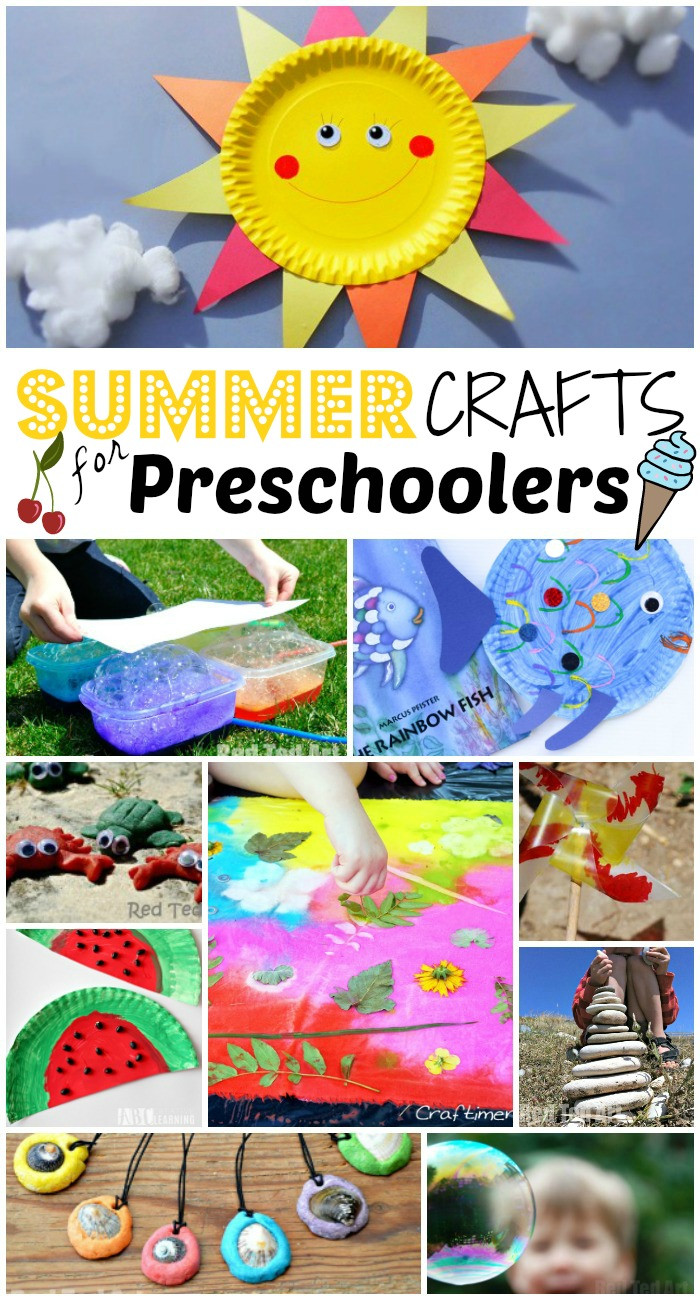 Summer Art Project For Kids  Summer Crafts for Preschoolers Red Ted Art s Blog