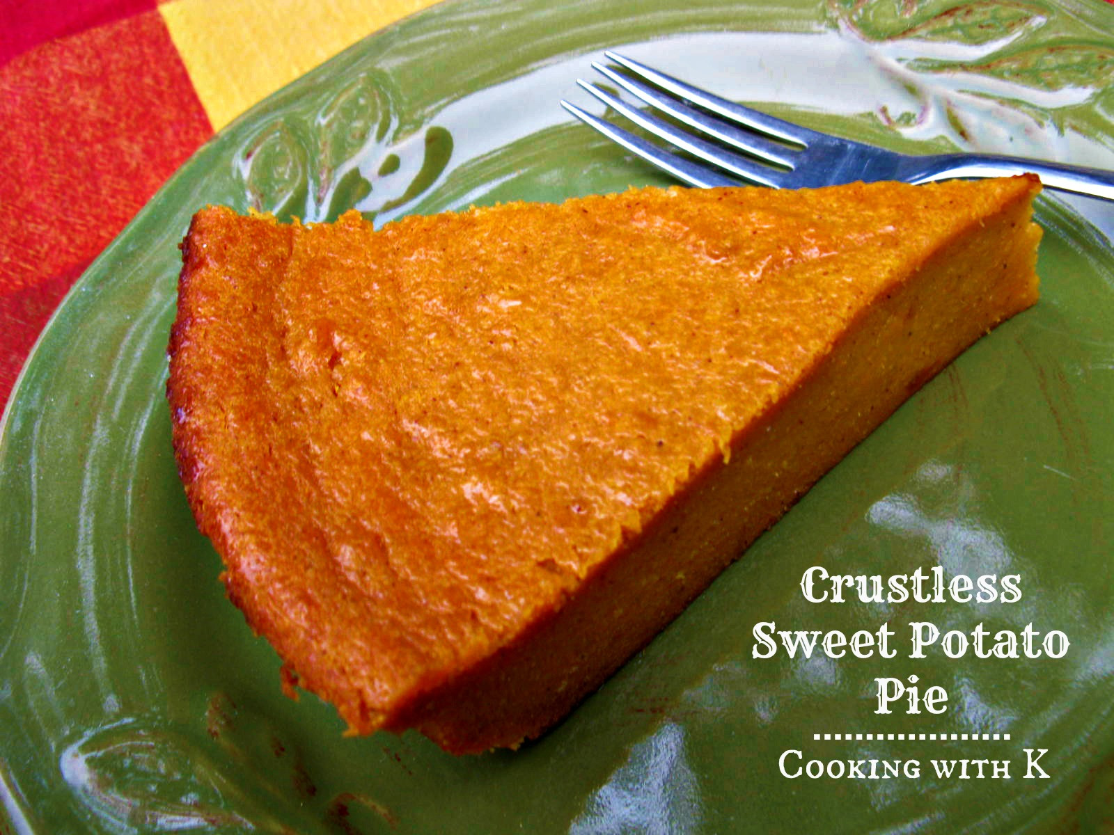 Sweet Potato Pie Crust  Crustless Sweet Potato Pie a classic way to use leftover
