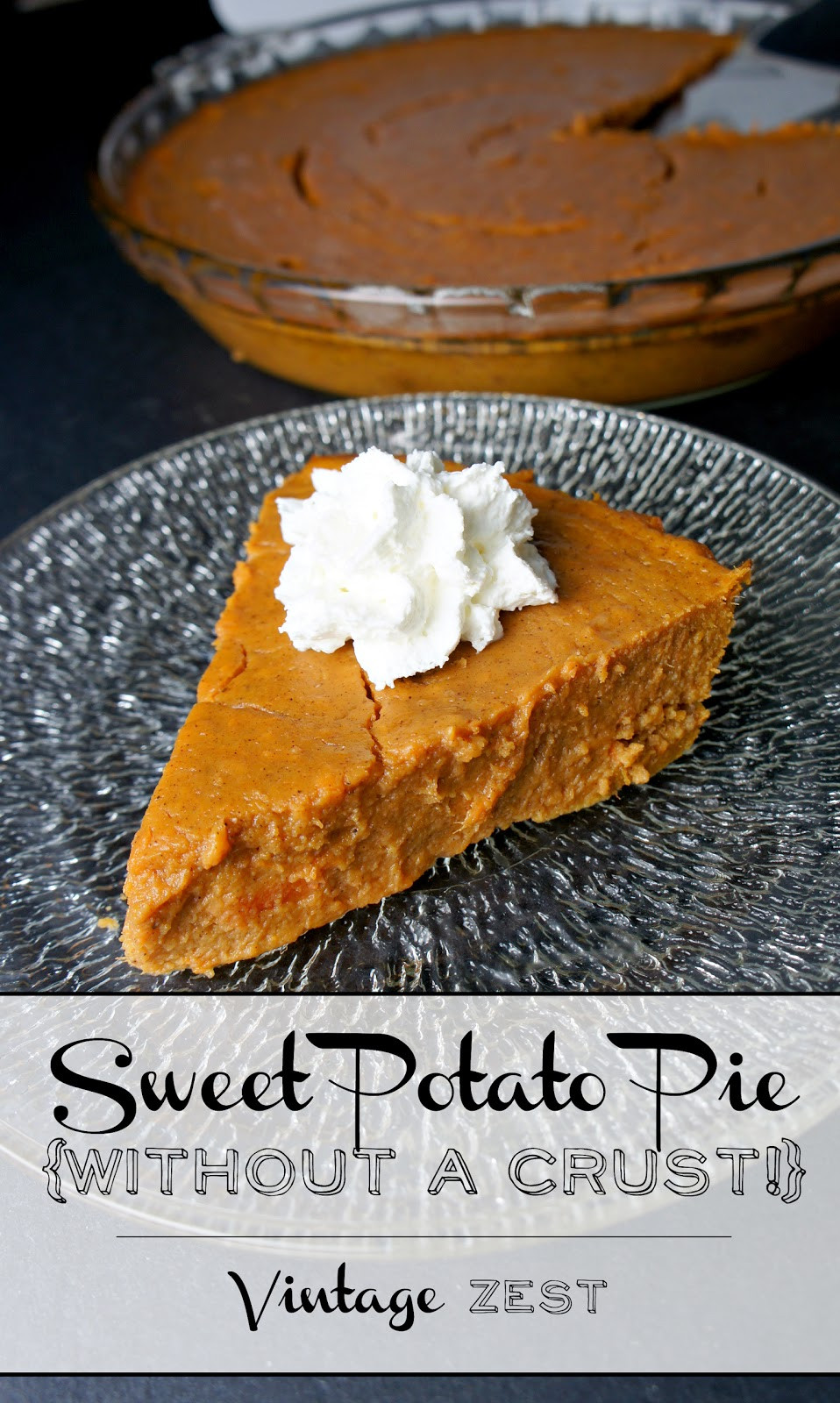 Sweet Potato Pie Crust  Easy Sweet Potato Pie without a crust Diane s Vintage