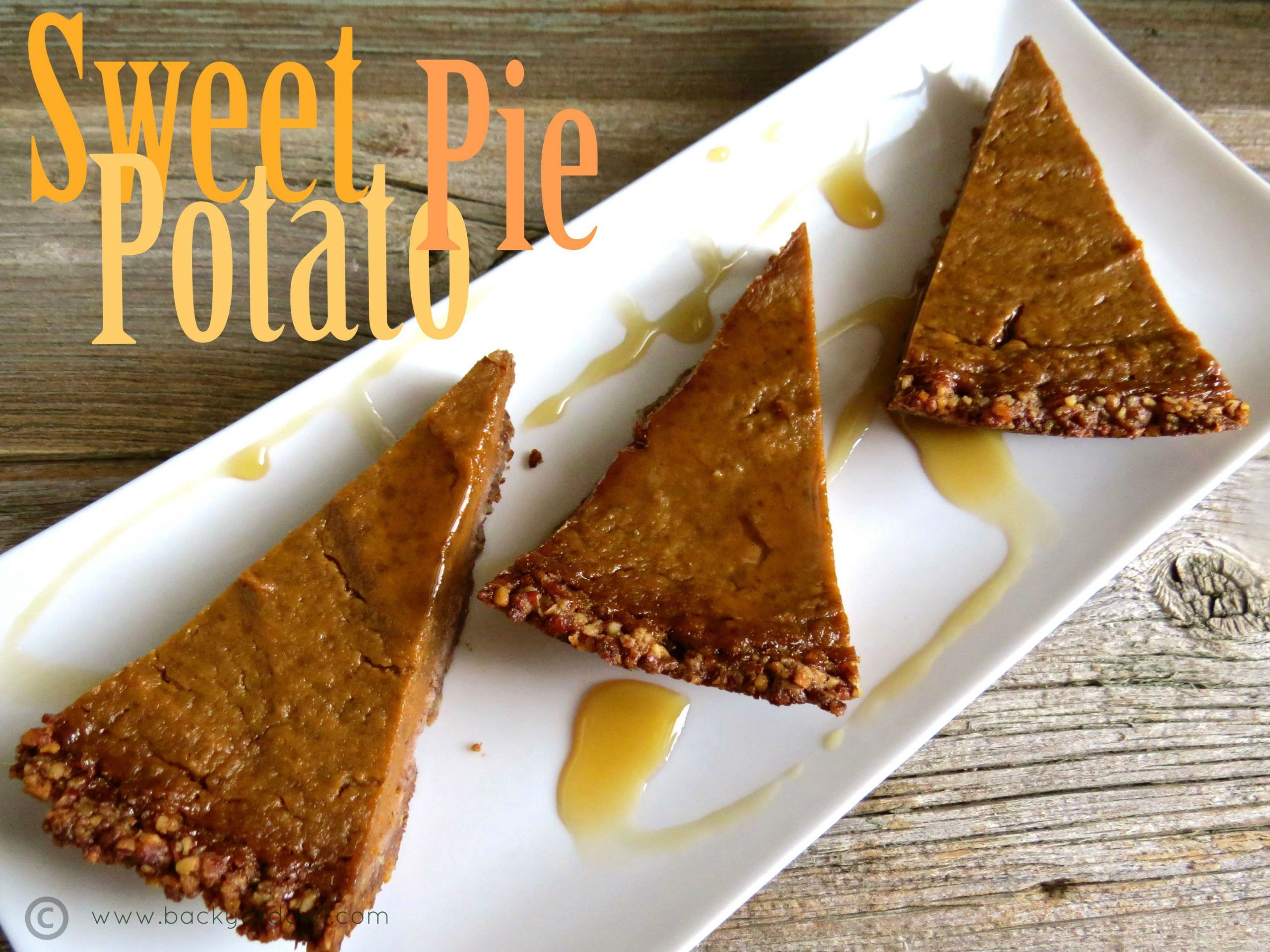Sweet Potato Pie Crust  Autumn Sweet Potato Pie with Pecan Crust v gf Eat
