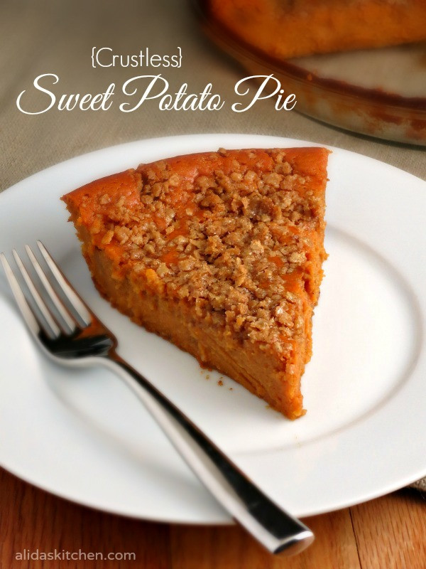 Sweet Potato Pie Crust  Crustless Sweet Potato Pie