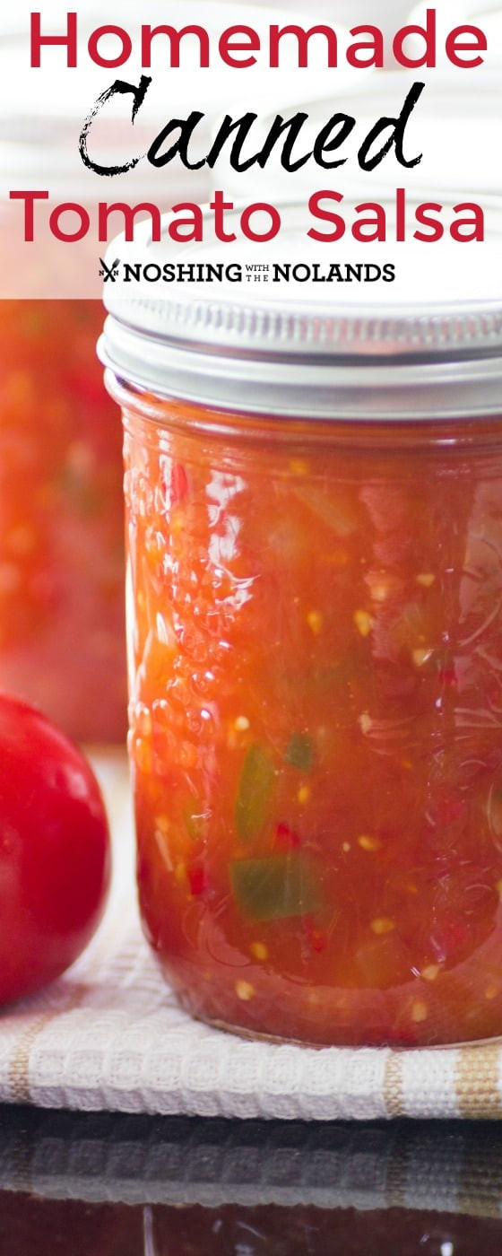 Sweet Salsa Recipe For Canning  Homemade Canned Tomato Salsa is the best with fresh summer