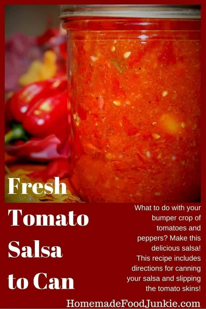 Sweet Salsa Recipe For Canning  Fresh Tomato Salsa to Can Recipe and Tips