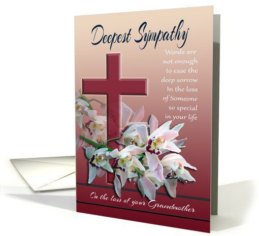 Sympathy Quotes For Loss Of Grandmother  sympathy grandmother cards