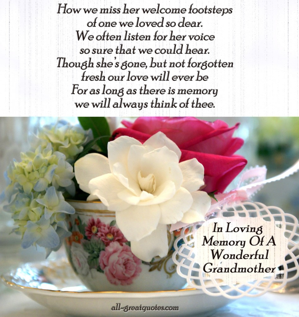 Sympathy Quotes For Loss Of Grandmother  Grandmother Sympathy Quotes QuotesGram