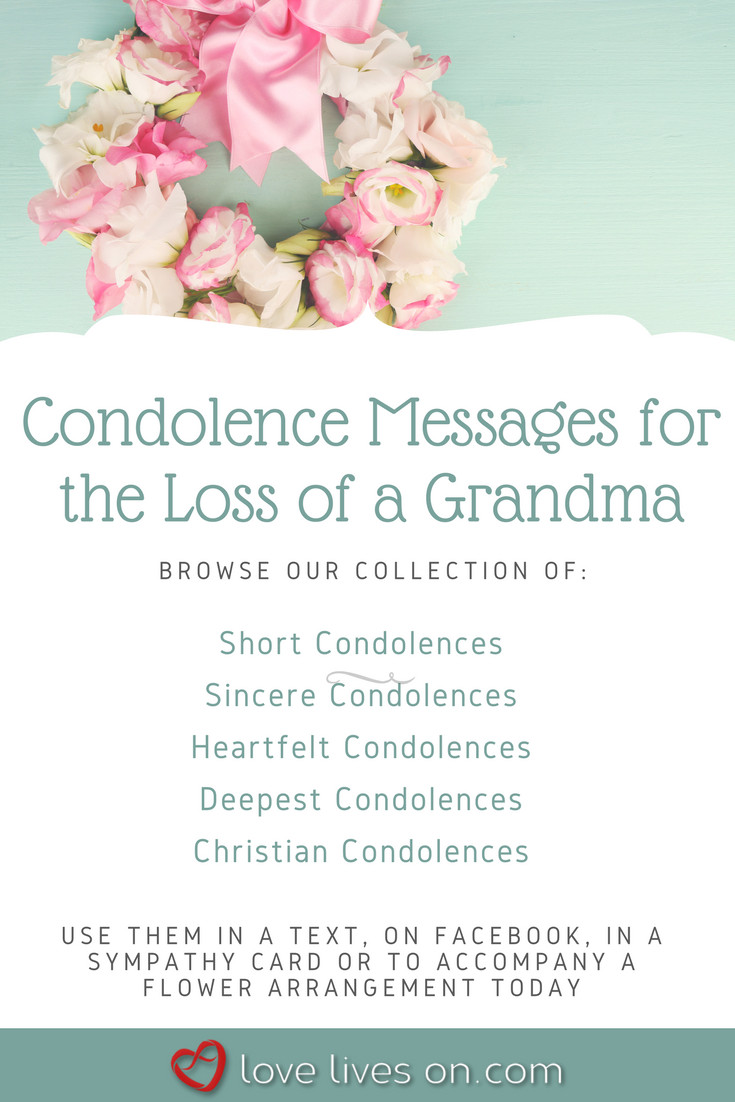 Sympathy Quotes For Loss Of Grandmother  Condolences