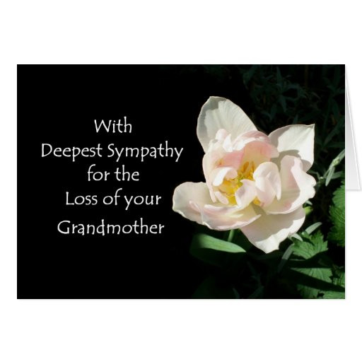 Sympathy Quotes For Loss Of Grandmother  Tulip Sympathy Card Loss of a Grandmother
