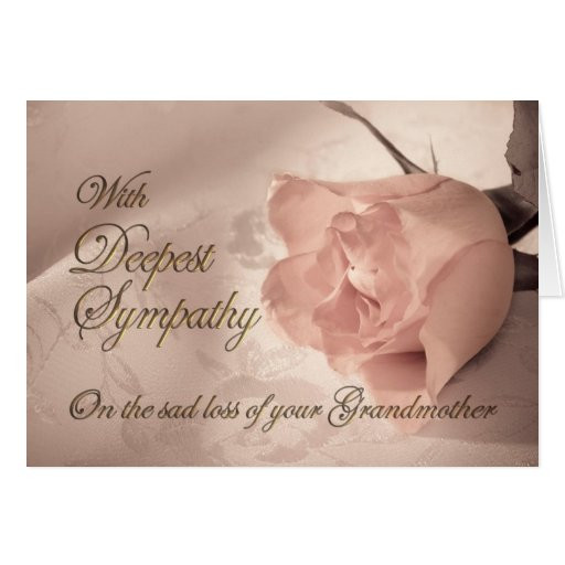 Sympathy Quotes For Loss Of Grandmother  Loss Grandmother Quotes QuotesGram